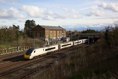 390009 on the 1H14 1417 London Euston to Manchester Piccadilly at Northwick Park on the 23rd February 2020