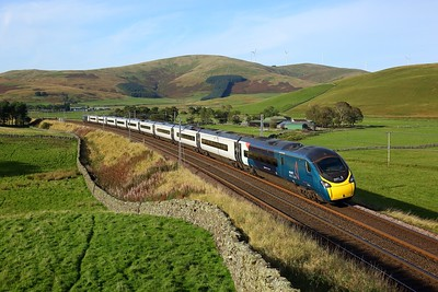 390104 working 1M16 1536 Glasgow Central to London Euston at Crawford, Abington on 27 September 2020  Class390, Avanti, WCMLScotland