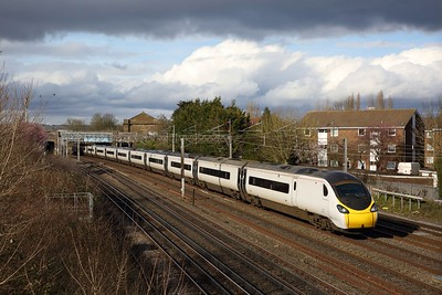 390112 on the 1M05 0938 Glasgow Central to London Euston at South Kenton on the 23rd February 2020