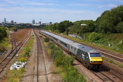 82303 tnt 68012 on 1H48 1355 Birmingham Moor Street to London Marylebone at Small Heath on 7 August 2020