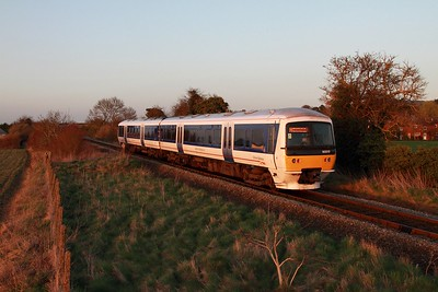 165015 on the 2A48 1653 London Marylebone to Aylesbury departing Princes Risborough on the 15th March 2017