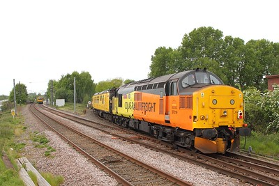 37219 tnt 37116 on the 1Q18 1052 Derby to Carlisle at Lichfield TVJ on the 9th May 2017