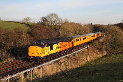 37116 tnt 37025 on the 1Q83 Blackpool North to Derby via Morecambe at Kettlesbeck on the 24th March 2017