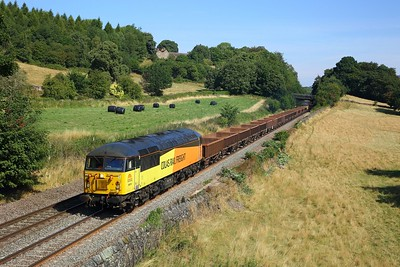 56078 tnt 56113 on the 6C76 0853 Belmont Down Yard to St Mary's Junction at Chevin, Milford on the 5th August 2018