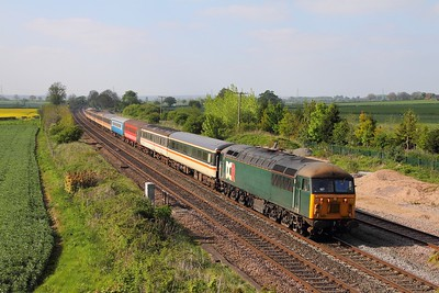 56303 on the 5Z57 Derby to Kidderminster at Elford on the 9th May 2017