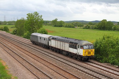 56103+82301 on the 5Z34 Wembley to Brush Loughborough via Toton approaching Loughborough on the 1st June 2015