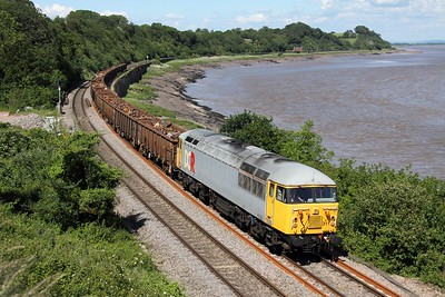 56311 powering 6Z69 1240 Derby St Andrews to Cardiff Tidal at Purton on 19 June 2012  Class56, DCR, LydneyLine