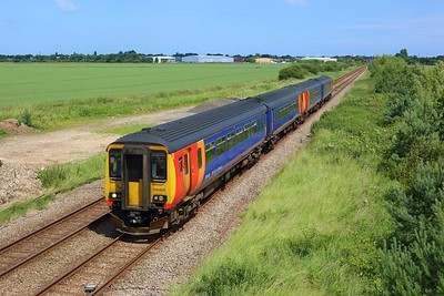 156408 leading 156404 working 2S16 1315 Skegness to Nottingham departing Skegness on 8 July 2021  ThePoacherLine, Class156, EMR