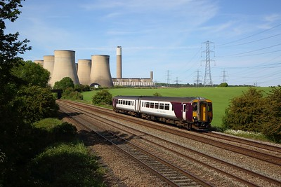 EMR Regional 156916 powering the 2L68 1436 Lincoln Central to Leicester at Ratcliffe on the MML on 25 May 2020