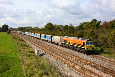 59206 powering the 7A17 Merehead to Colnbrook departing Hungerford loop on 14 October 2020  Class59, Freightliner, BandH