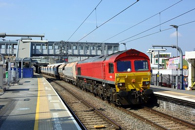 59205 working 7A09 Merehead to Acton yard at Southall on 20 April 2021  Class59, Freightliner, GWMLLondon