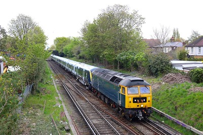 47727 hauling 701028 on 5Q10 Derby Litchurch Lane to Eastleigh at Hounslow on 28 April 2021  Class47, GBRF, HounslowLoop, Unitdrag