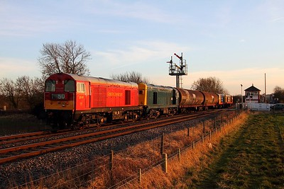 20189+20142 tnt 20118+20132 on the 6E21 Old Dalby to Peterborough at Langham on the 7th March 2014