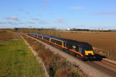 43467+43465 on the 1N90 London Kings Cross to Sunderland at Kirkby la thorpe on the 12th November 2017