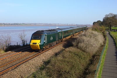 43009 leading 43155 working 2E80 1650 Plymouth to Exeter St Davids at Powderham on 4 April 2021  GWR, GWRCastleSets, SouthDevonMainline