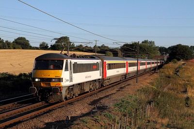90004 on the 1P05 0600 Norwich to London Liverpool Street at Baylham on the 4th August 2015