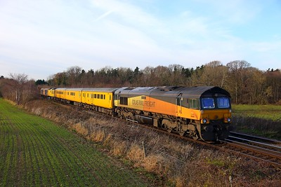 66849 tnt 73961+73962 on the 1Q89 Dollands Moor to Tonbridge at Tonbridge on the 9th December 2017