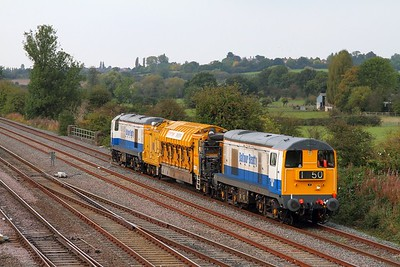 20189 tnt 20142 on the 6Z20 York to Willesden at Trowell on the 28th September 2014