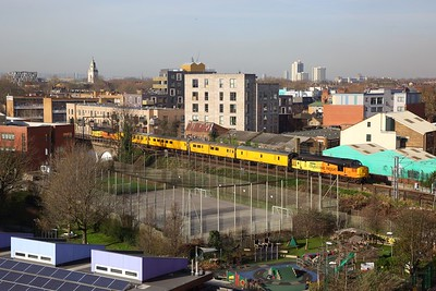 37254 tnt 37219 on the 1Q97 1117 Ferme Park to Cambridge re-routed due to Goblin derailment, at Homerton on the 5th February 2020 hires small