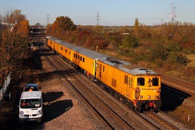 73138 tnt 73201 3Z03 Derby RTC to Hither Green at Loughborough on the 19th November 2013