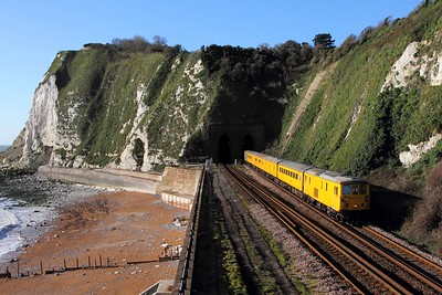 73138 tnt 73201 on the 1Q64 Hither Green to Tonbridge West yard at Shakespeare Tunnel on the 4th December 2015