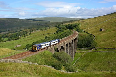 158859 working 2H85 0824 Carlisle to Leeds over Arten Gill viaduct on 21 July 2020  Class158, Northern, SandC