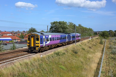 158861 working the 2W35 1158 Whitby to Newcastle at Fellgate on 20 August 2020  Class158, Northern