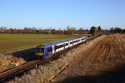 170474 on the 2C33 1111 York to Leeds at Poppleton on the 18th January 2020