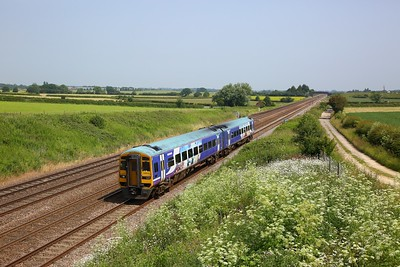 158910 working 2R09 1148 York to Hull at Colton junction on 29 June 2020  Class158, Northern, DearneValleyline