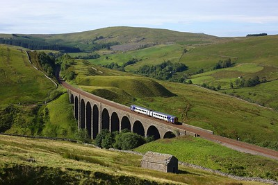 158793 powering 2H12 0748 Leeds to Carlisle at Arten Gill viaduct on 21 July 2020  Northern, Class158, SandC