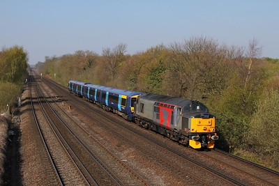 37800+375902 on the 5Q58 Wembley to Ramsgate at Swanley on the 8th April 2017