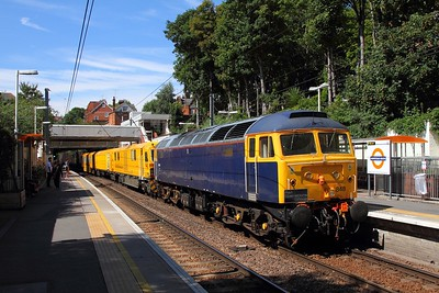 47848+MMT on the 6E15 1103 West Ealing to Darlington at Hampstead Heath on the 11th August 2017