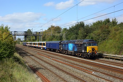 57312 hauling 710106 with 57310 on rear working 5Q72 0927 Old Dalby to Willesden at Bourne End on 10 September 2020  Class57, ROG, WCML