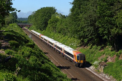 444004 leading 444033 on 1W96 0755 Weymouth to London Waterloo at Oakley on 9 June 2021  Class444, SWML, SWR