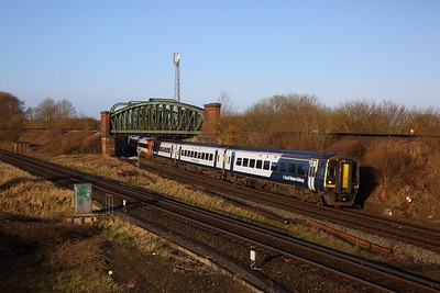 159012+158881+159004 on the 1L20 Exeter St Davids to London Waterloo at Worting junction on the 9th March 2020