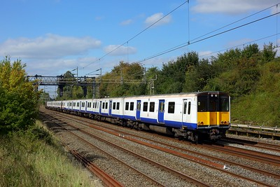 315822 and 315808 hauled by 37800 as 5Q55 Ilford EMUD to Masborough Booths at Bourne End on 10 September 2020  Class315, TFL