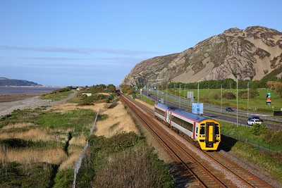 158826 on the 1D15 1510 Birmingham International to Holyhead at Penmaenmawr on the 4th May 2019