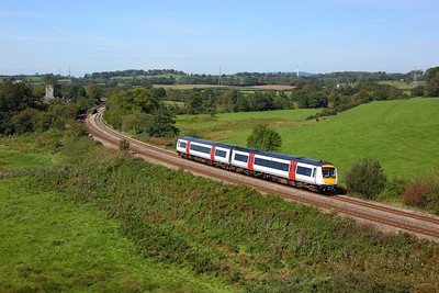170272 working 2G58 1114 Maesteg to Gloucester at St Georges on 14 September 2020  Class170, TFW, SouthWalesML