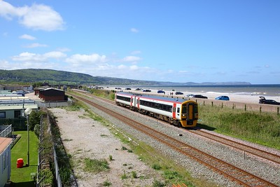 158836 on the 1G40 1123 Holyhead to Birmingham International at Abergele on the 4th May 2019