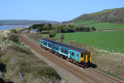 150250 working 1W66 1300 Milford Haven to Manchester Piccadilly at St Ishmael on 3 April 2021  Class150, TFW, WestWalesLine