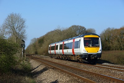170270 working 2G56 0916 Maesteg to Gloucester at Coychurch on 2 April 2021  Class170, TFW, SouthWalesMainline