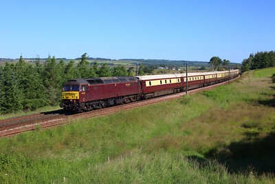 47802 leading 57601 working 5Z42 0834 Joppa Straight to Glasgow Central at Auchengray on 15 July 2021  Class47, WCRC, NorthernBelle, WCMLScotland