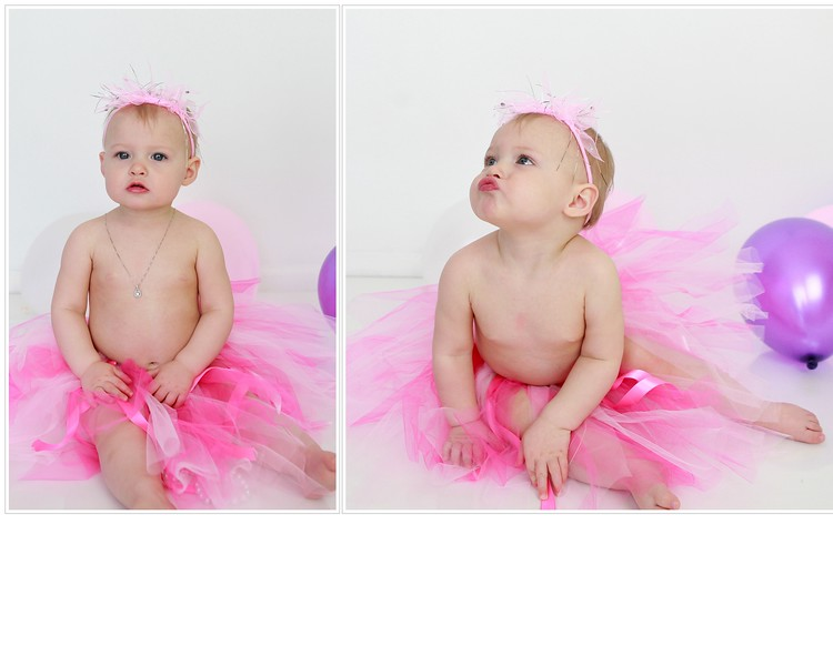 Lilly One Year Old Tutu Collage 8X10