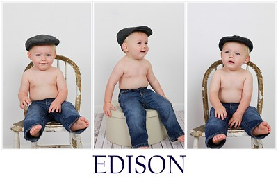 Edison Samples with hat  12X8