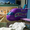 A Polly Pocket airliner from the 1990's is cared for with white gloves to protect it from damage at the Top Fun Aviation Toy Museum in Fitchburg on Saturday Feb. 5, 2017.  Sun photo/Jeff Porter