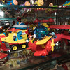 Mickey Mouse, Elmo, and various other characters are on display inside a glass case at the Top Fun Aviation Toy Museum in Fitchburg on Saturday Feb. 5, 2017.  Sun photo/Jeff Porter
