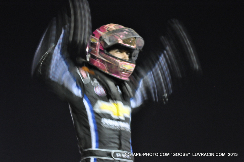 BRYAN CLUSON WINS MIDGET PLUS 5 K EXTRA FOR BOTH WINS AND HE DID IT OFF TURN 4