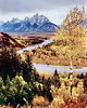 1968 WY Snake river & Tetons