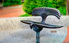 Center City Park bird bench