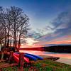 Sunset at lake Brandt marina